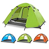 SKYLINK Tienda de campaña 3 Personas, Doble Capa, Impermeable, para 4 Estaciones, 3 Personas, para Acampada, Verde