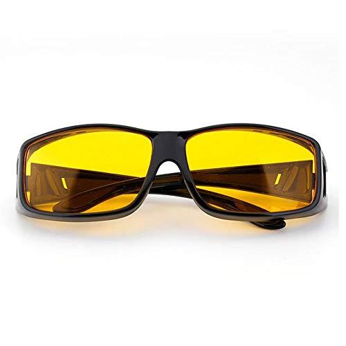 Szblk Polarisierte Sonnenbrille metallische Sonnenbrille reflektierende Sonnenbrille 100% UV-Schutz Retro Sonnenbrille (Color : Yellow)