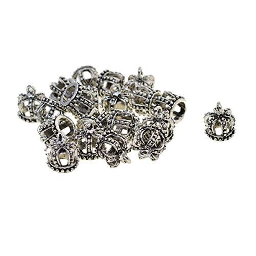 IPOTCH 20 Paket 3D Hohl König Krone Baumeln Charm Anhänger zum Basteln von Bettelarmbändern für Armband Halskette Ohrring Gemischte Charms