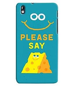 Citydreamz Say Cheese Cartoon Hard Polycarbonate Designer Back Case Cover For HTC Desire 816