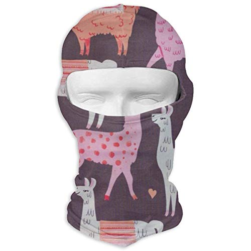 Baby Coral Bekleidung (Vidmkeo Cute Llama Love Heats Baby Llamas Coral Pink Balaclava Face Mask Hood for Women Men Extra Warmth Hiking Motorcycling Neck Mask)