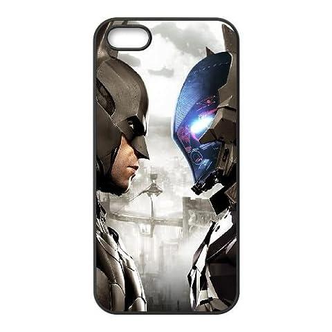 Batman Arkham Knight coque iPhone 4 4S cellulaire cas coque de téléphone cas téléphone cellulaire noir couvercle EEEXLKNBC23387