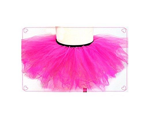 Pink - Girls Basic Ballerina Tutu Ballet Dress-up 3 Layer Tulle Skirt (Fuschia) by Lil Princess