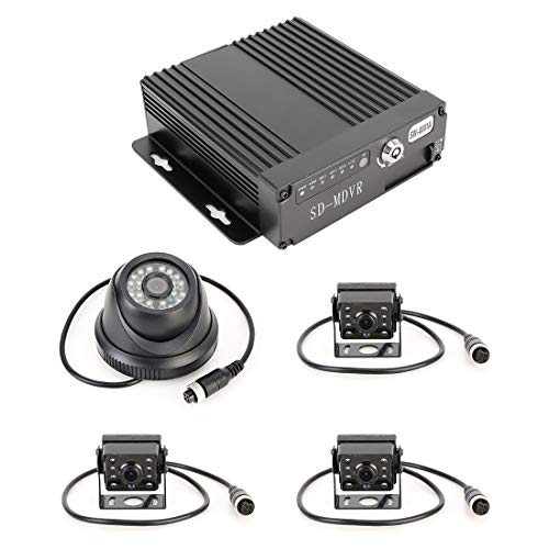Parking Accessories Parkzubehör LKW-360-Grad-Echtzeitüberwachung 4 CH SD-Echtzeit-720P 1280 * 720 Pixel SD-mobiler DVR, Unterstützung SD-Karte (max. 128 G), ohne Monitor