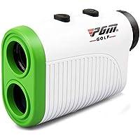 PGM Telémetro de Golf - Telémetro láser de Golf de Acuerdo con 1 Yarda, Rango de 450 Yardas, ampliación 6X, Estuche de Transporte,White