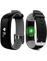 """ROGUCI 0.86 """"OLED Bluetooth Wearable Smartband, wasserdichtes IP67 intelligentes Armband Wristband, Blutdruck-Monitor, Puls-Monitor,Grau"""