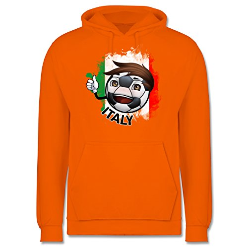 EM 2016 - Frankreich - Fußballjunge Italien - Männer Premium Kapuzenpullover / Hoodie Orange