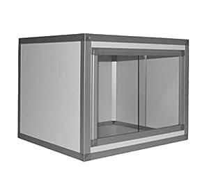 hpterra Terrarium Kit PVC/Aluminium pour Reptile/Amphibien Blanc 3 mm 60 x 45 x 45 cm