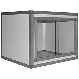 hpterra Terrarium Kit PVC/Aluminium für Reptile/# 304weiß 3mm 60x 45x 45cm