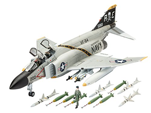 Revell Modellbausatz Flugzeug 1:72 - F-4J Phantom II im Maßstab 1:72, Level 3