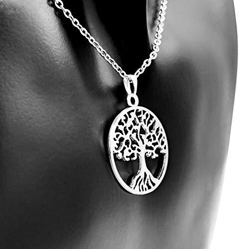 FE | Edelstahl | Baum des Lebens | keltischer Weltenbaum | tree of life | Kette mit Anhänger | Damen ()