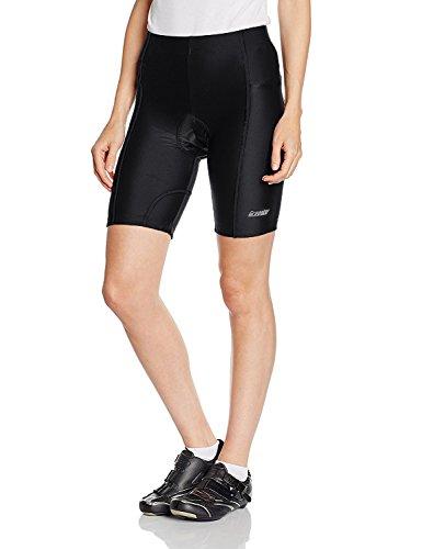 Gregster Damen Fahrradhose, Radlerhose und Radhose kurz, Shorts für Fahrrad mit Polster atmungsaktiv, schwarz, M (26 Tv Samsung)