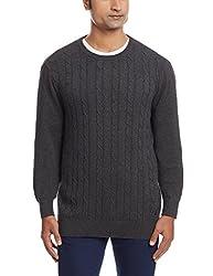 Nautica Mens Cotton Sweater (8907259533940_NTS531000TB_Large_True Black)