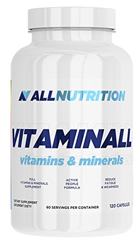 ALLNUTRITION Vitaminall Vitamine Mineralien Nahrungsergänzungsmittel Bodybuilding (120 Kapseln) -