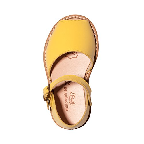Minorquines - Sandales Frailera Boucle Limon - Enfant Jaune