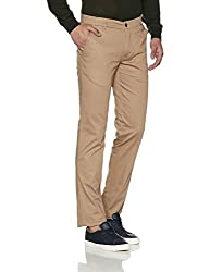 Park Avenue Mens Casual Trousers (8907663023143_PCTF00183-F3_36W x 33 L_Medium Fawn)