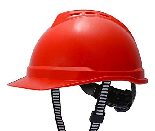 Schutzhelm-Bau-Schutzhelm-Schutzhelm-Rotes ABS Mit Belüftung