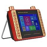 Lazmin Radio Portatile Tascabile FM, Ricevitore Radio Stereo Digitale Portatile Multifunzionale U Disco riproduttore Video con Display LCD da 4,3 Pollici