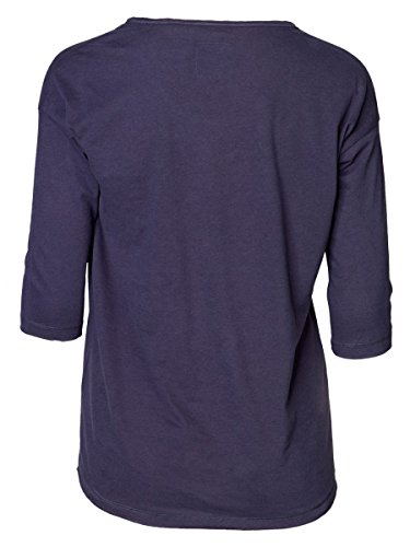 DAILY'S KORI Damen oversize 3/4 Arm Shirt mit Rundhalsausschnitt aus Seacell und Bio-Baumwolle - soziale fair trade Kleidung, Mode vegan und nachhaltig Color midnight, Size S - 2