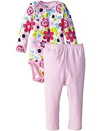 Jockey Baby Girls Girl 2 Piece Floral Bodysuit and Legging Set