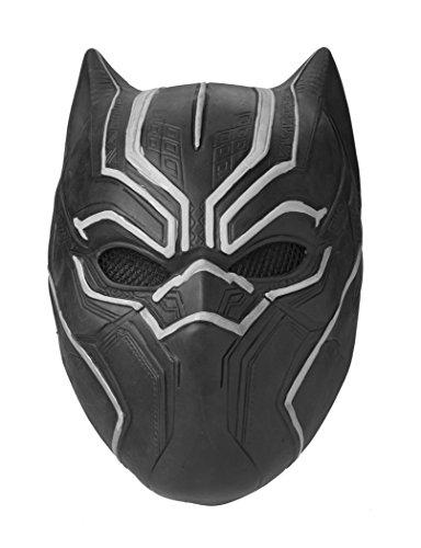 her Maske Marvel Superheld Cosplay Party Maske aus Latex Halloween (Schwarze Superhelden Maske)
