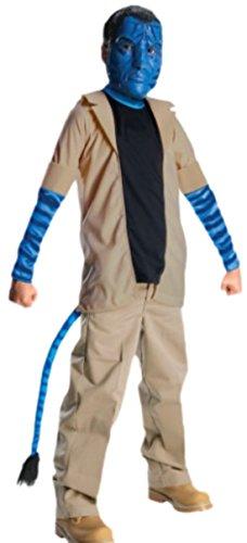erdbeerloft - Jungen Karnevalskomplettkostüm Avatar Jake Sully, 140, Blau