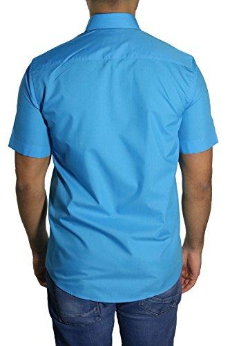 MUGA Homme Chemise manche court Turquoise