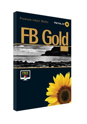 Gold Hawk Seiden (PermaJet 22723A3FB Seide Papier-Gold (25Stück))