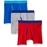 Hanes Big Boys' Comfort Soft Dyed Boxer Brief (Pack of 3), Assorted, Large