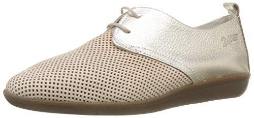 24 HORAS 24008, Zapatos de Cordones Brogue para Mujer, Dorado (Jazmin 3), 38 EU