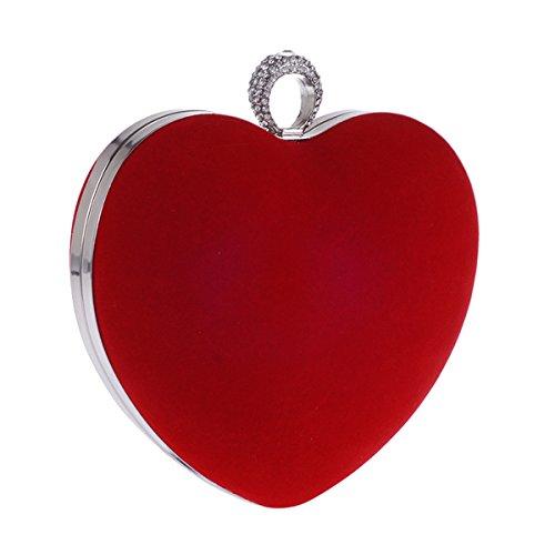 Flada, Poschette giorno donna Rosso Red medium Red