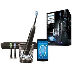 Philips Sonicare Diamond Clean Smart HX9903/13 - Cepillo de dientes con App y cabezales con sensores, color negro