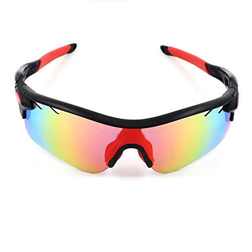 Yiph-Sunglass Sonnenbrillen Mode Polarisierte Sport-Sonnenbrille Goggles Motorrad-Brille Lenes für Männer Frauen Radfahren Laufen Fahren (Color : 6, Size : One Size)