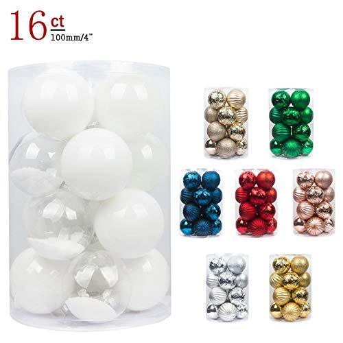 Busybee unbekannt palline di natale 16 pezzi 10 cm bianca palline natalizie ornamento di palla di natale per la decorazione dell'albero di natale