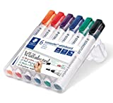 STAEDTLER 351WP6 Lumocolour Whiteboard Marker with Bullet Tip, Multicolor , Pack of 6 Bild 1