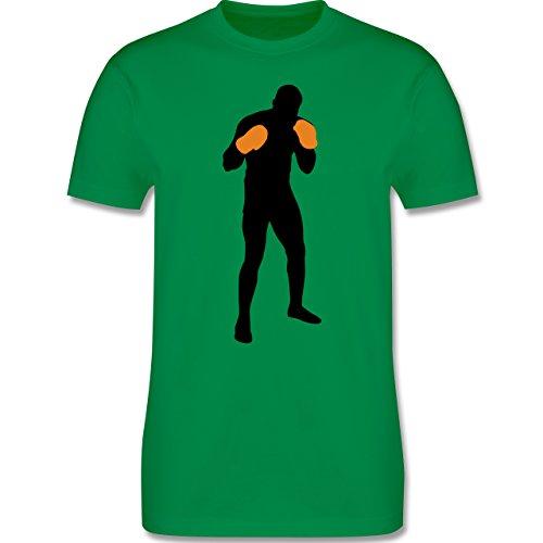Kampfsport - Boxer Grundstellung - Herren Premium T-Shirt Grün