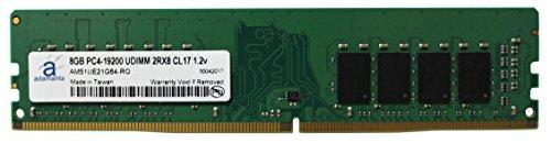 adamanta 8GB (1x 8GB) Desktop Speicher-Upgrade für Dell, HP und Lenovo Desktop Systeme DDR42400MHz PC4-19200unbuffered DIMM 2Rx8/Tablettenspeicher 1,2V RAM Dram -