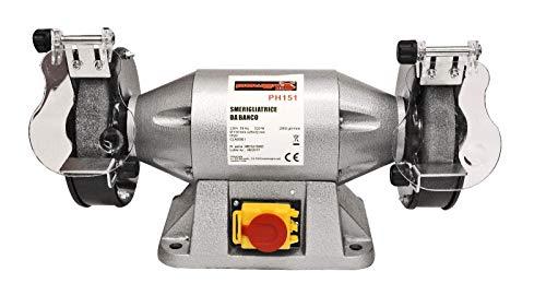 Amoladora esmeriladora doble de banco profesional w 520mm 150rpm 2950
