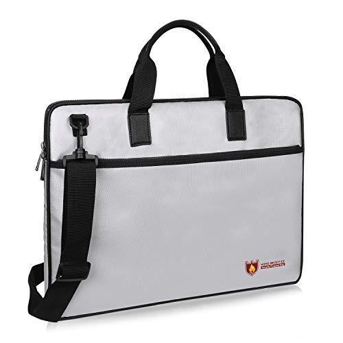 Mode große Kapazität Feuerfeste Tasche, sicherheitsbeständiger Geldbeutel-Beutel-Umschlaghalter aus Silikon mit Reißverschlussriemen Sichere Aufbewahrungstasche for Wertsachen, Laptop, Geld, Schmuck,