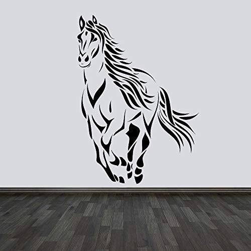 BFMBCH Moderne Dekoration Pferd Wandaufkleber Vinyl Dekoration Tier Aufkleber Schlafzimmer Wohnzimmer Möbel Wandbilder Künstlerische Wandaufkleber Rot 57x79 cm