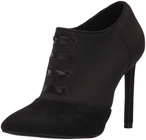 Nine West Women's Tria Black/Black Fabric Boot