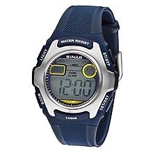 SINAR Jugenduhr Sportuhr Outdoor digital Quarz blau Silber 10 bar wasserdicht Licht XE-50-2