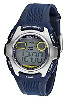 SINAR Jugenduhr Sportuhr Outdoor digital Quarz blau Silber 10 bar wasserdicht Licht XE-50-2 (B004778XYC) | Amazon price tracker / tracking, Amazon price history charts, Amazon price watches, Amazon price drop alerts