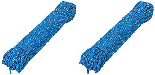AceCamp 2 x Kunststoffseil, PP Polypropylen, Outdoor-Seil, Mehrzweck-Seil, Tau, Leine, Doppelpack Blau, 3mm x 30m, 90339