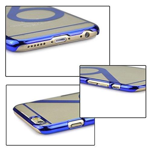 Für iPhone 6 / 6S Num 6 Muster Ultra-dünne Beschichtung Skinning Schutzhülle DEXING ( Color : Magenta ) Dark Blue