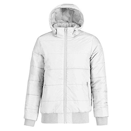 B&C Collection Herren Modern Jacke White/ Warm Grey Lining