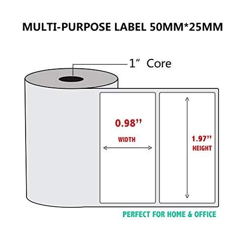 5 rollos papel impresión térmica impresora térmica