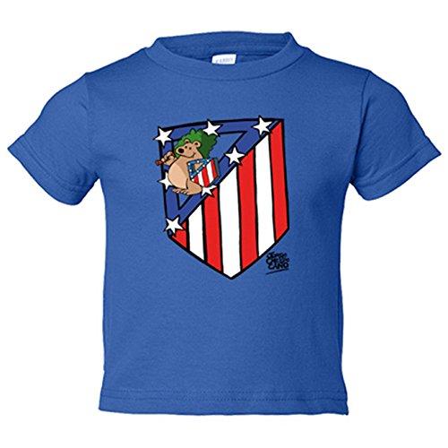 Camiseta niño Atlético de Madrid El Escudo del Atleti - Azul Royal, 5-6 años