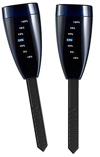Royal Gardineer Feuchtigkeitssensor: 2er-Set Digitaler Feuchtigkeitsmesser mit LED-Anzeige (Topfpflanzen Hygrometer)