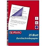 Herlitz Pencil Carbon Paper - Papel carbón (25 unidades)